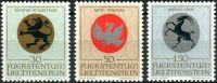 (1969) MiNr. 514 - 516 ** - Lichtenštejnsko - Erb duchovních patronů (I)