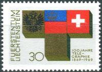 (1969) MiNr. 517 ** - Liechtenstein - 100 Jahre Telegraphie in Liechtenstein