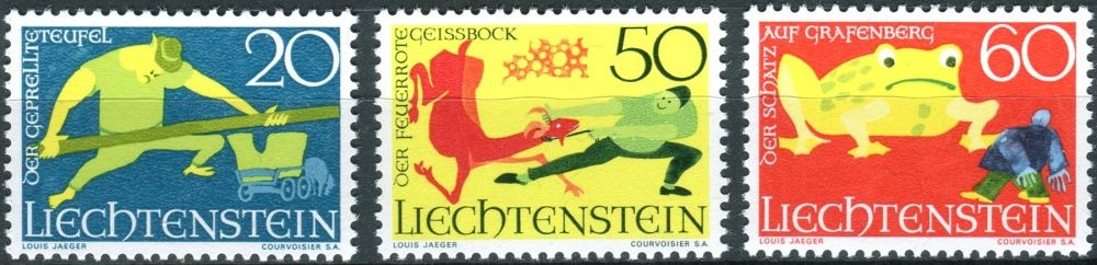 (1969) MiNr. 518 - 520 ** - Lichtenštejnsko - Povídky (III)