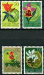 (1970) MiNr. 521 - 524 ** - Liechtenstein - Einheimische Flora (I); Europäisches Naturschutzjahr