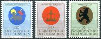 (1970) MiNr. 533 - 535 ** - Lichtenštejnsko - Erb duchovních patronů (II)