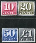 (1970) MiNr. 76 - 79 ** - Velká Británie - Poštovné - číslice