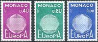 (1970) MiNr. 977 - 979 ** - Monako - Europa
