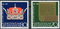 (1971) MiNr. 546 - 547 ** - Lichtenštejnsko - 50 let nové ústavy