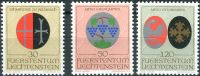 (1971) MiNr. 548 - 550 ** - Liechtenstein - Coat of Arms of Patron Saints (III)