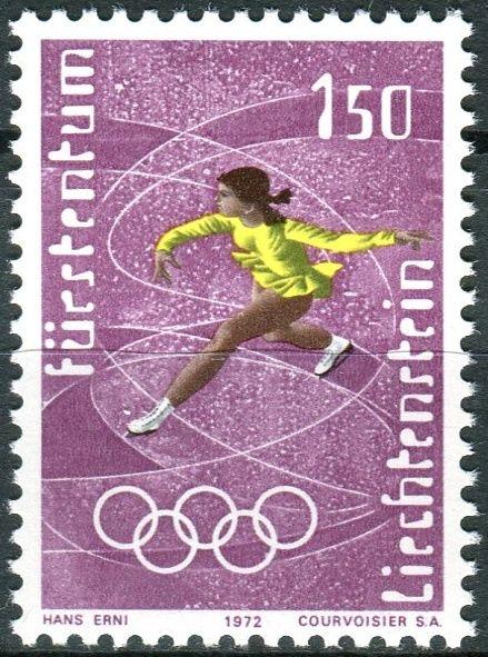 (1971) MiNr. 554 ** - Lichtenštejnsko - 1972 zimní olympijské hry, Sapporo