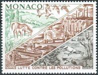 (1972) MiNr. 1036 ** - Monako - Boj proti znečištění