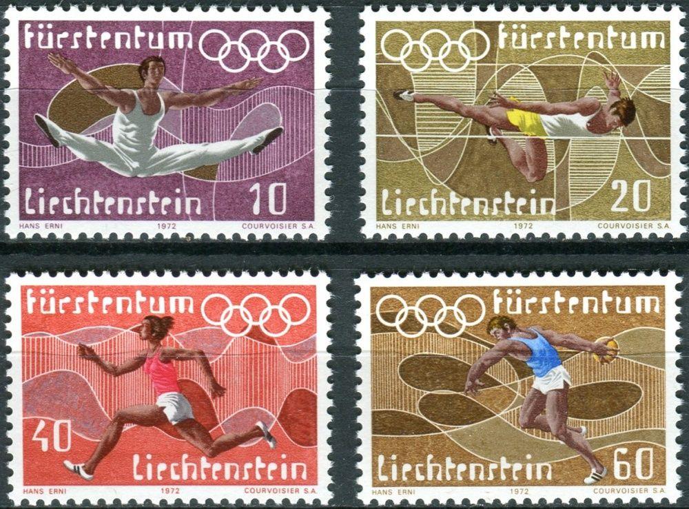 (1972) MiNr. 556 - 559 ** - Lichtenštejnsko - Letní olympijské hry, Mnichov