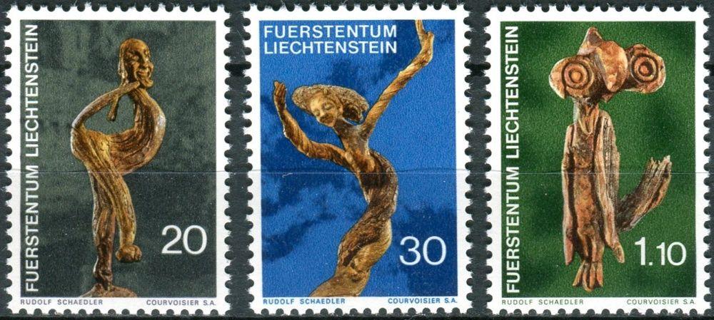 (1972) MiNr. 567 - 569 ** - Lichtenštejnsko - vyřezávané sochy
