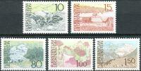(1972) MiNr. 573 - 577 ** - Lichtenštejnsko - krajiny