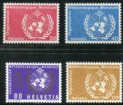 (1973) MiNr. 10 - 13 ** - Švýcarsko - WMO - 100 let Světová organizace pro meteorologii (WMO)