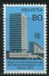 (1973) MiNr. 10 ** - Švýcarsko - UIT - Zahájení nového sídla Mezinárodní telekomunikační unie v Žene