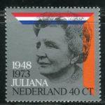 (1973) MiNr. 1017 ** - Nizozemsko - 25 let panování královny Juliany