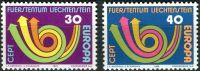 (1973) MiNr. 579 - 580 ** - Lichtenštejnsko - Europa