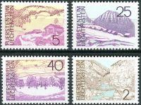 (1973) MiNr. 596 - 599 ** - Lichtenštejnsko - krajiny