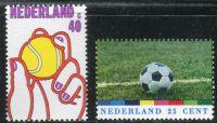 (1974) MiNr. 1030 - 1031 ** - Nizozemsko - Sport: Světový pohár fotbalu, Německo; 75 let Royal Dutch