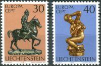 (1974) MiNr. 600 - 601 ** - Lichtenštejnsko - Europa: sochy
