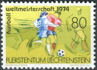 (1974) MiNr. 606 ** - Lichtenštejnsko - Mistrovství světa ve fotbale, BR Německo