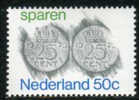 """(1975) MiNr. 1058 ** - Niederlande - """"Sparen"""""""