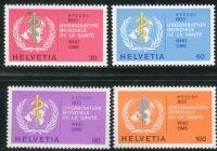 (1975) MiNr. 36 - 39 ** - Švýcarsko - WHO - WHO emblém