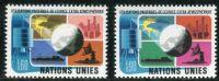 (1975) MiNr. 46 - 47 ** - OSN Ženeva - Mírové využívání kosmického prostoru