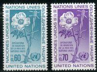 (1975) MiNr. 54 - 55 ** - OSN Ženeva - Mírové opatření Organizace spojených národů