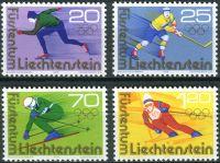 (1975) MiNr. 635 - 638 ** - Lichtenštejnsko - Zimní olympijské hry 1976, Innsbruck