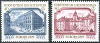 (1978) MiNr. 692 - 693 ** - Lichtenštejnsko - Europa: památky