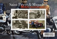 (2017) MiNr. 1278 - 1281 ** - Saint Pierre a Miquelon - BLOCK 30 - Staré motocykly