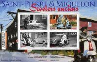 (2018) MiNr. 1298 - 1301 ** - Saint Pierre a Miquelon - BLOCK 35 - Zablokujte skútry