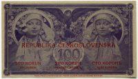 Československo - Mucha 100 Kčs státovka 1918-2018 (Ivančice)