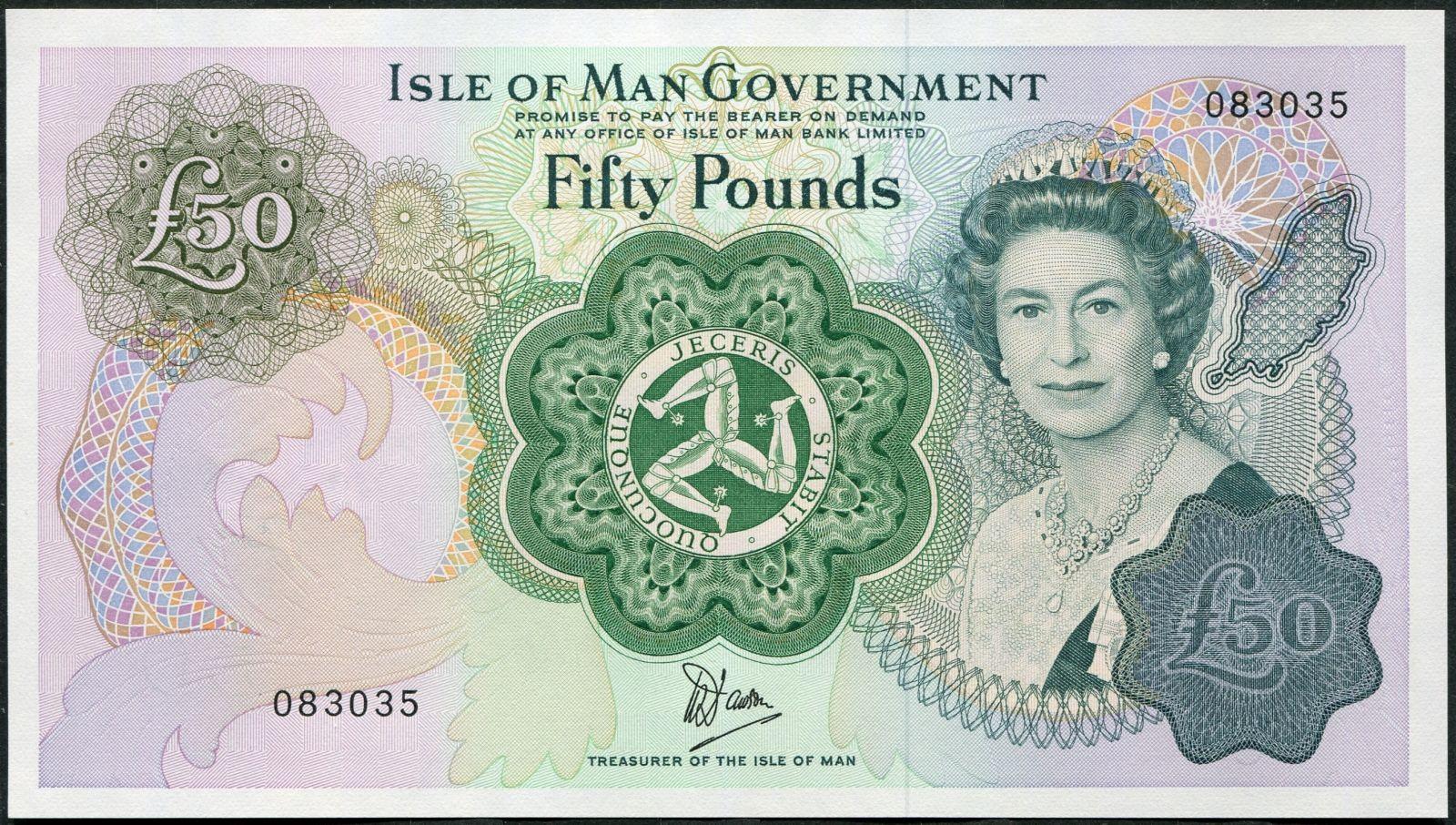 Isle of Man - (P 39)  50 Pounds (1983) - UNC