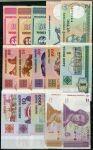 Sestava 100 ks různých bankovek v UNC