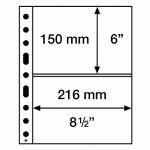 SH sheet 312 - 2C - für Banknoten, Tickets (50 Stück)