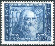 (1938) MiNr. 617 ** - Itálie - Leonardo da Vinci; autoportrét