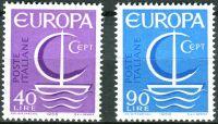 (1966) MiNr. 1215 - 1216 ** - Itálie - Europa