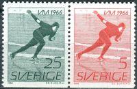 (1966) MiNr. 546 - 547 **- Du - Švédsko - 2-bl - Mistrovství světa mužů v rychlobruslení