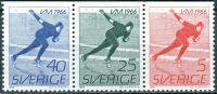 (1966) MiNr. 546 - 548 **- Do - Švédsko - 3-bl - Mistrovství světa mužů v rychlobruslení
