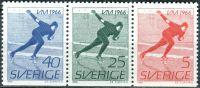 (1966) MiNr. 546 - 548 **- Du - Švédsko - 3-bl - Mistrovství světa mužů v rychlobruslení
