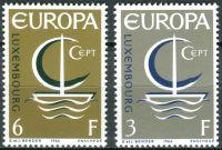 (1966) MiNr. 733 - 734 ** - Lucembursko - Europa