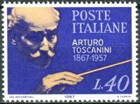 (1967) MiNr. 1223 ** - Itálie - 100. narozeniny Arturo Toscanini
