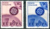 (1967) MiNr. 1224 - 1225 ** - Itálie - Europa