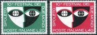 (1967) MiNr. 1235 - 1236 ** - Itálie - 10. Festival dvou světů ve Spoletu