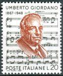 (1967) MiNr. 1241 ** - Itálie - 100. narozeniny Umberta Giordana