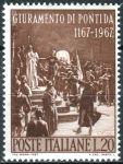 (1967) MiNr. 1242 ** - Itálie - 800 let přísaha Pontida