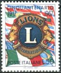 (1967) MiNr. 1245 ** - Itálie - 50 let Lions International