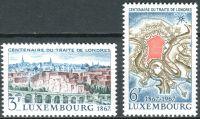 (1967) MiNr. 746 - 747 ** - Lucembursko - 100 let Londýnská smlouva