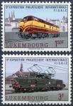 (1966) MiNr. 735 - 736 ** - Lucembursko - FISAIC - železnice