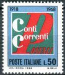 (1968) MiNr. 1289 ** - Itálie - 50 let poštovní kontrolní služby