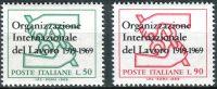 (1969) MiNr. 1299 - 1300 ** - Itálie - 50 let Mezinárodní organizace práce (ILO)
